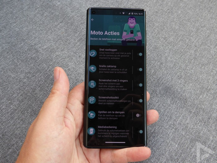 Motorola Edge Moto Acties
