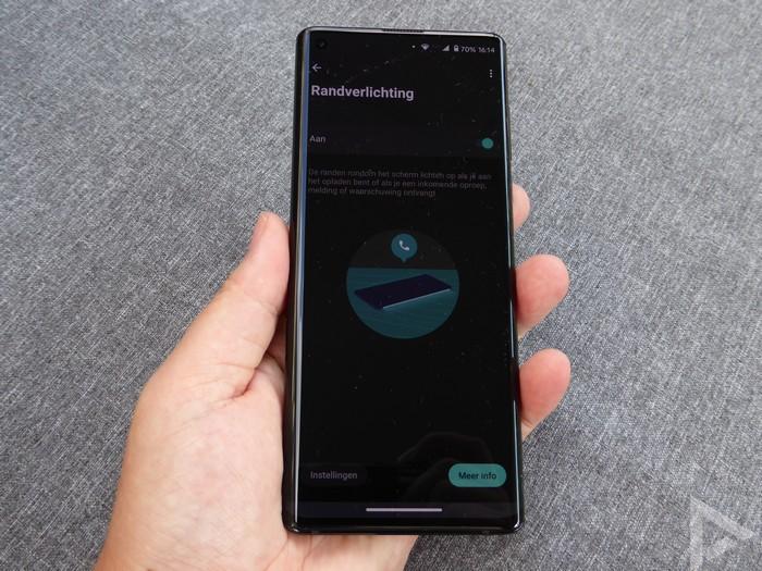 Motorola Edge randverlichting