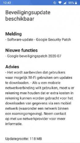 Nokia 5 beveiligingsupdate juli 2020