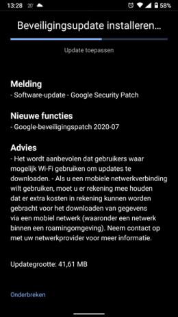 Nokia 6.1 beveiligingsupdate juli 2020