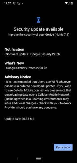 Nokia 7.1 juni patch