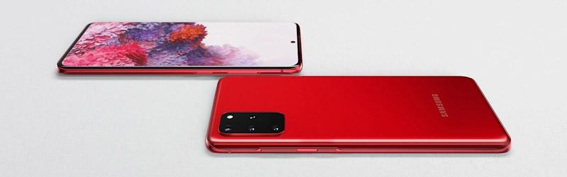 Samsung Galaxy S20+ rood