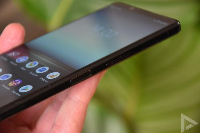 Sony Xperia 1 II vingerafdrukscanner
