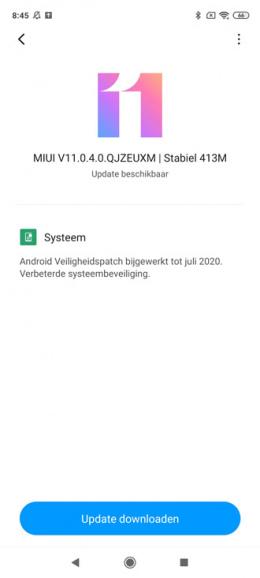 Xiaomi Redmi Note 9 Pro juli update