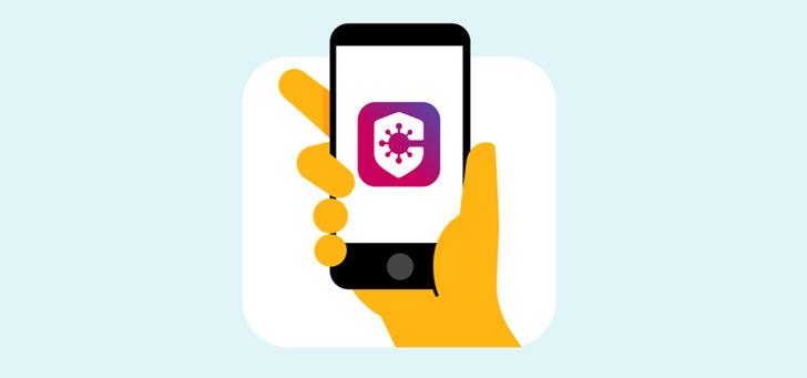 Coronamelder app header