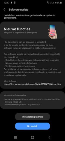 Galaxy A50 augustus update