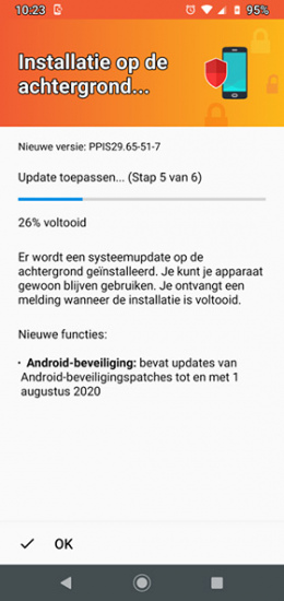 Moto G8 Plus augustus 2020 update