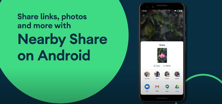 Google begint met uitrol 'Nearby Share' voor snel delen van bestanden