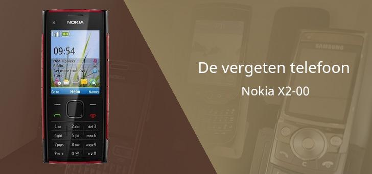Nokia X2-00 vergeten header
