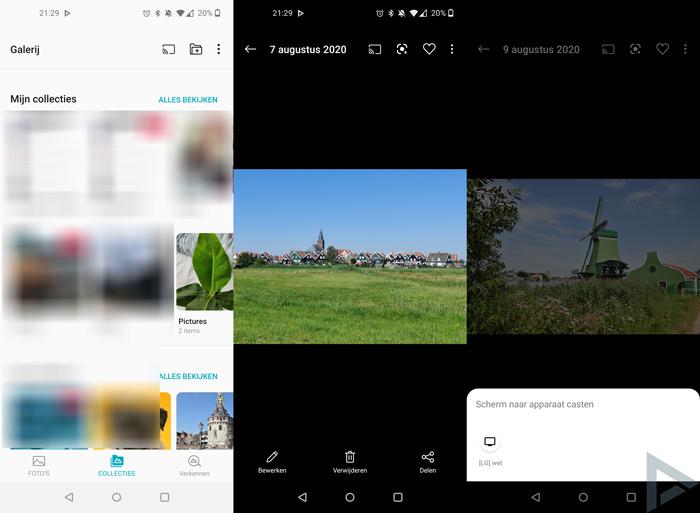 OnePlus Galerij Chromecast