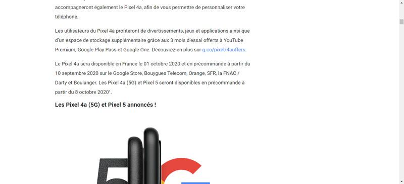 Pixel 5 8 oktober