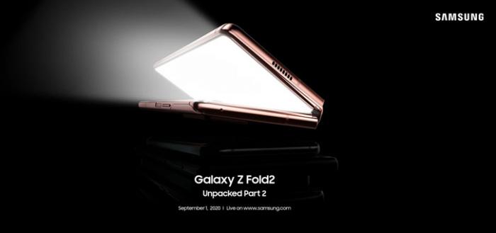 Samsung Galaxy Z Fold 2 aankondiging voor Nederland is op 1 september