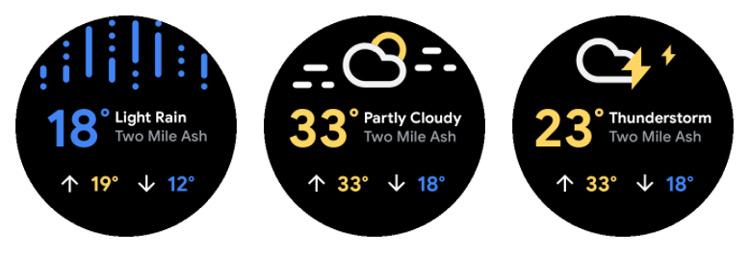 Wear OS weer-app 2020