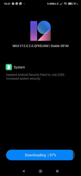 Xiaomi Mi 9T Pro juli-patch