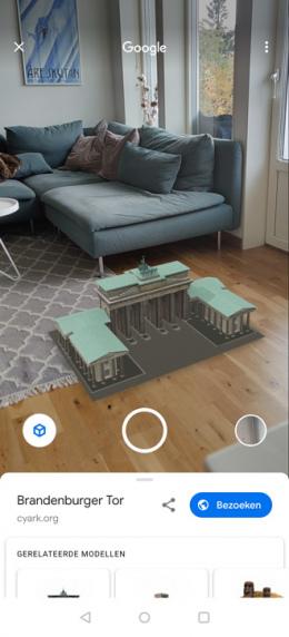 Google AR brandenburger tor