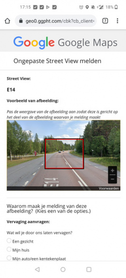 Google Maps Street View blur