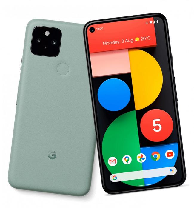 Google Pixel 5 groen