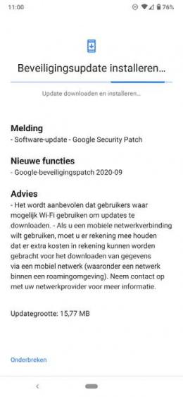 Nokia 6.2 beveiligingsupdate september 2020