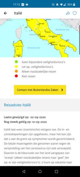 Reisadvies app