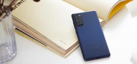 Samsung Galaxy S20 FE blue header