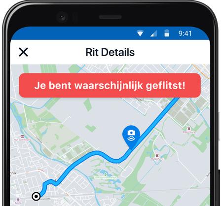 Flitsmeister Rit details geflitst