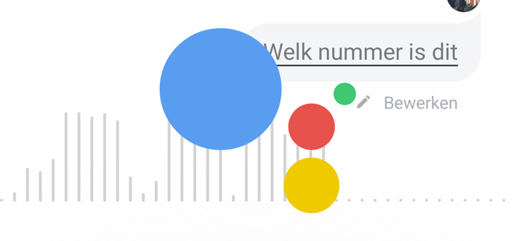Google Assistent nummer header