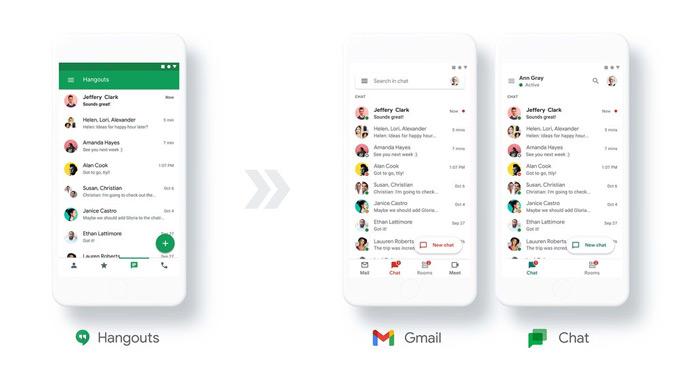 Google Hangouts naar Chat