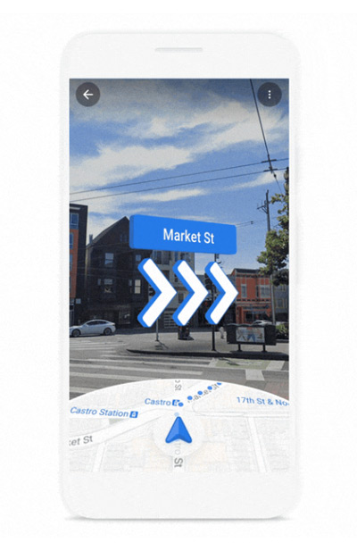 Google Maps AR Live View metrostations