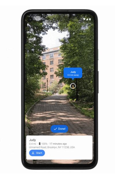 Google Maps AR Live View vrienden