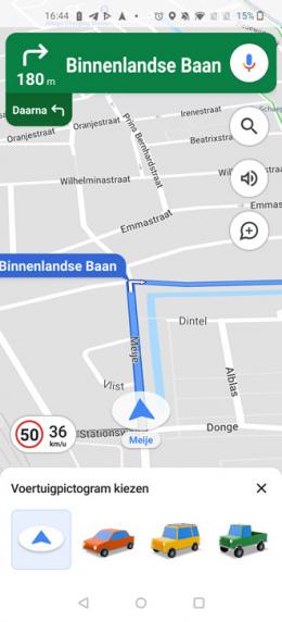 Google Maps auto icoontje