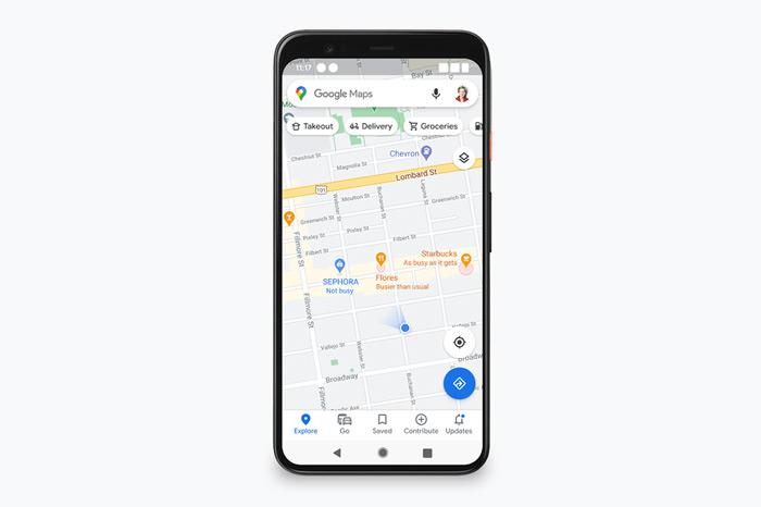 Google Maps rode cirkels