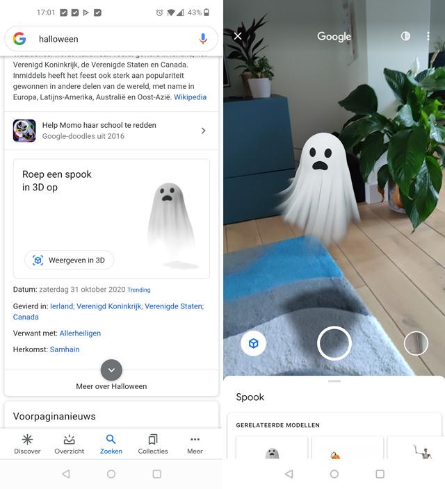Google augmented reality halloween