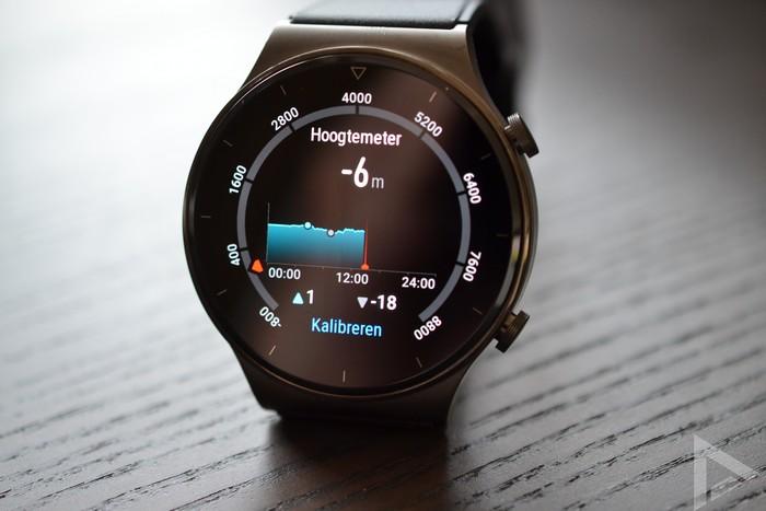 Huawei Watch GT 2 Pro hoogtemeter