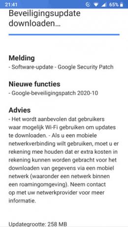Nokia 5 beveiligingsupdate oktober 2020