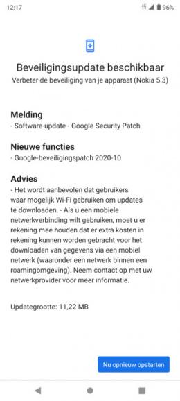 Nokia 5.3 oktober update