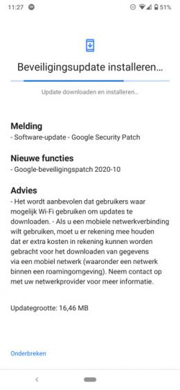 Nokia 6.2 beveiligingsupdate oktober 2020