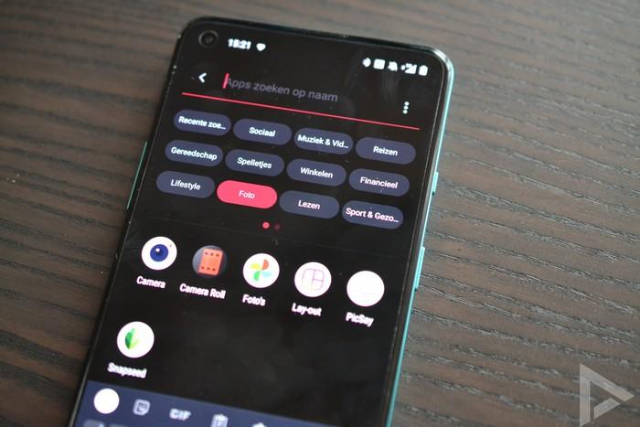 OnePlus 8T menu