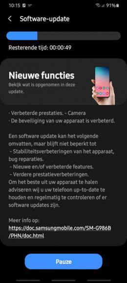 Samsung Galaxy S20 Note 20 camera okt 2020