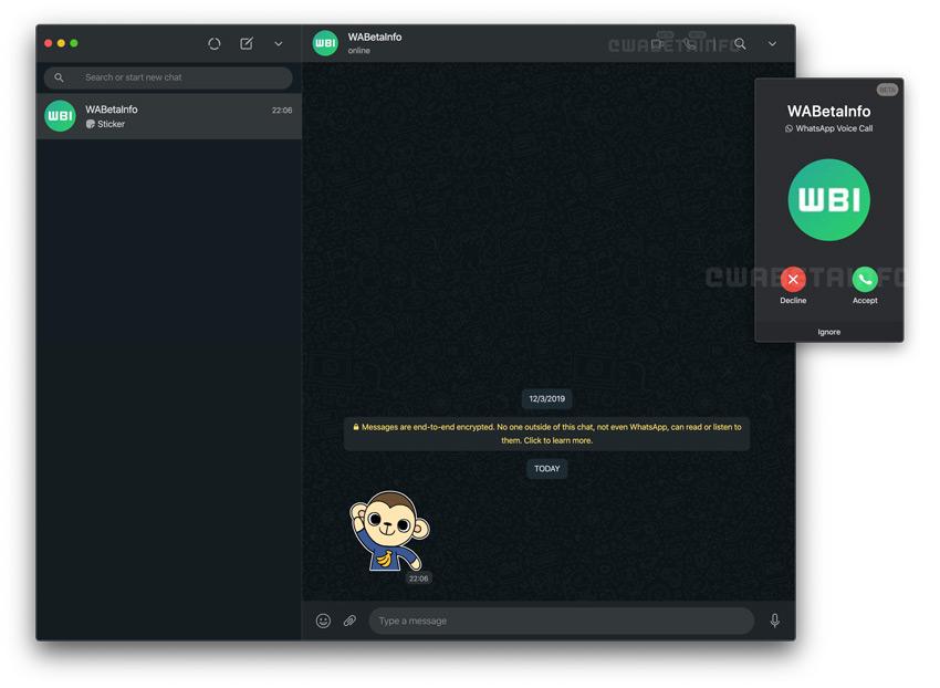 WhatsApp Web oproep