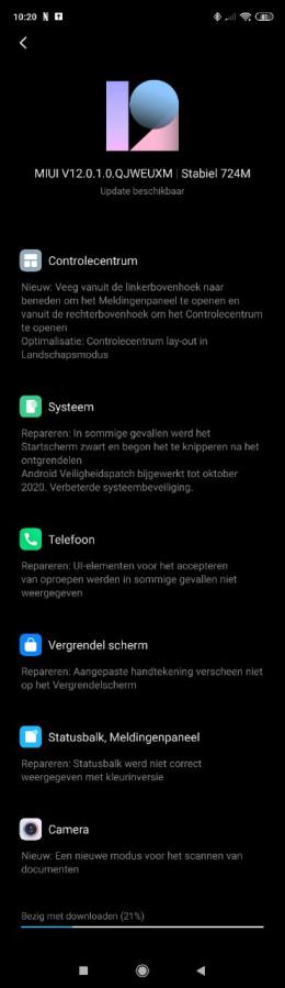 Xiaomi Redmi Note 9 Pro 9S MIUI 12