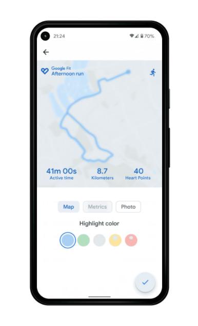 Google Fit training