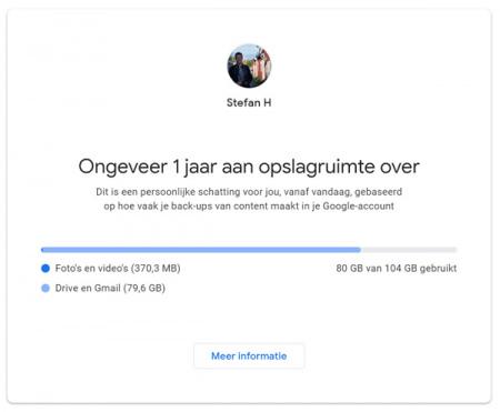 Google opslagruimte