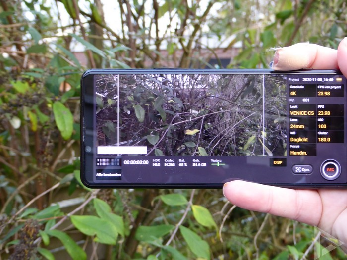 Sony Xperia 5 II videocamera