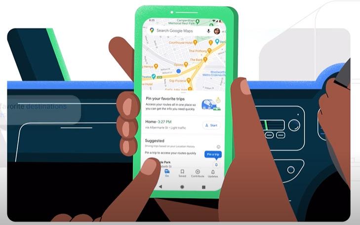 Google Maps Go Tab