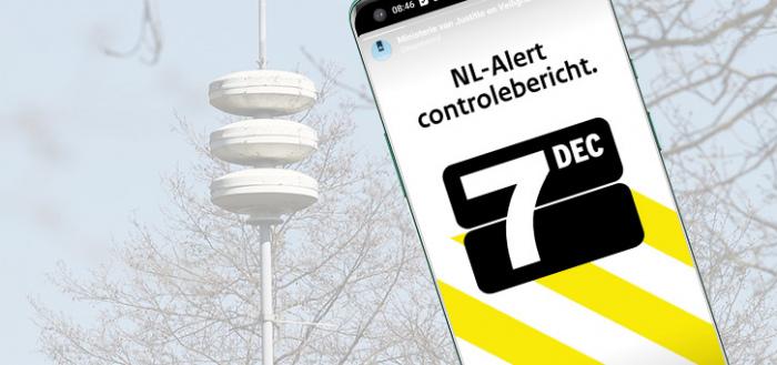 NL-Alert wordt 7 december getest met controlebericht: zo werkt het