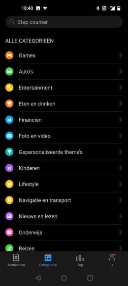 Huawei AppGallery categorie