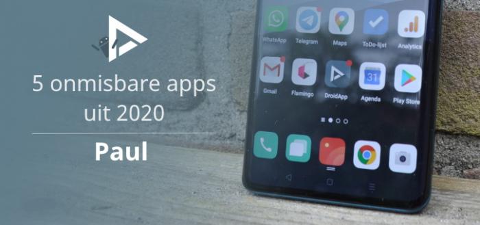 De 5 meest onmisbare apps van 2020 volgens Paul