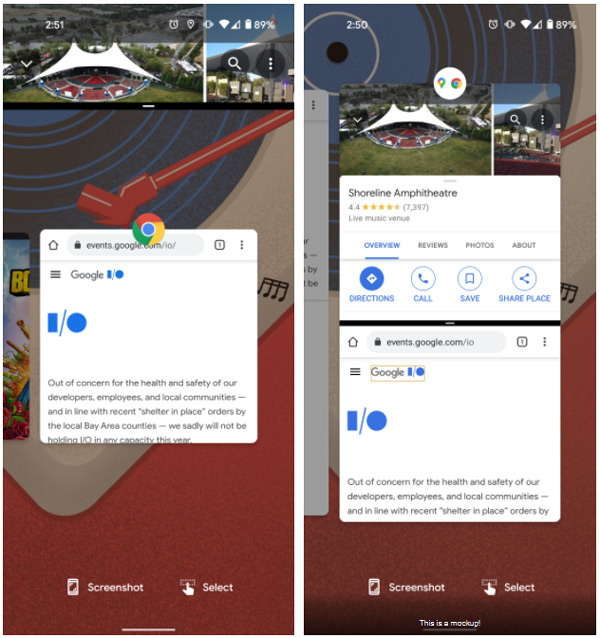 Android 12 App Pairs mock-up