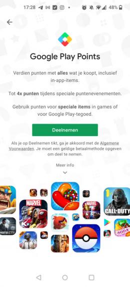 Google Play Points Nederland