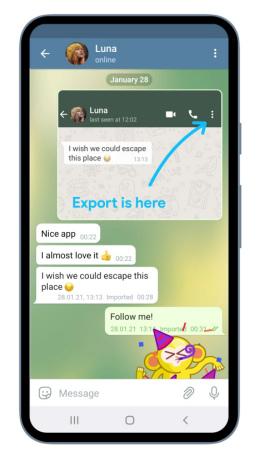 Importeer whatsapp telegram 2